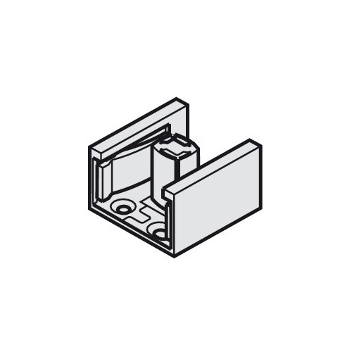Hafele 404.95.911 Dual Lower Guide for 2 Glass Doors