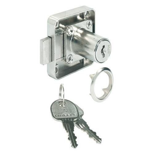 Hafele 232.27.720 Dead Bolt Rim Lock with Fixed Plate Cylinder