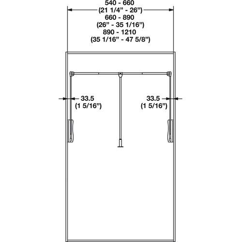 Hafele 805.31.702 Wardrobe Lift