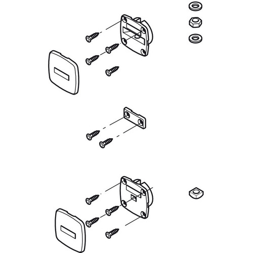 Hafele 407.90.209 Fitting Set for Door Straightening System
