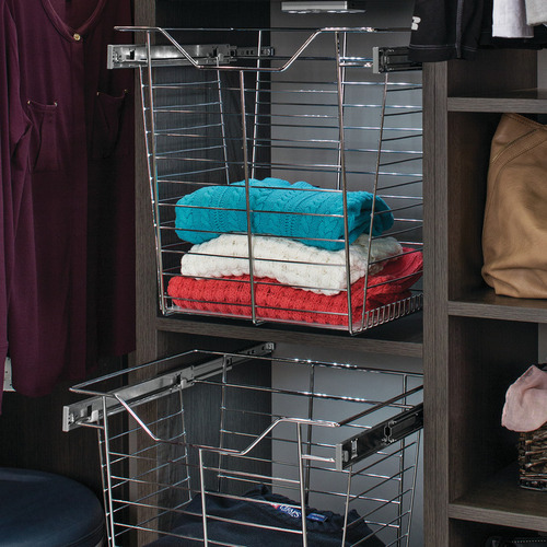Hafele 547.38.832 Wire Closet Basket with Full Extension Slides