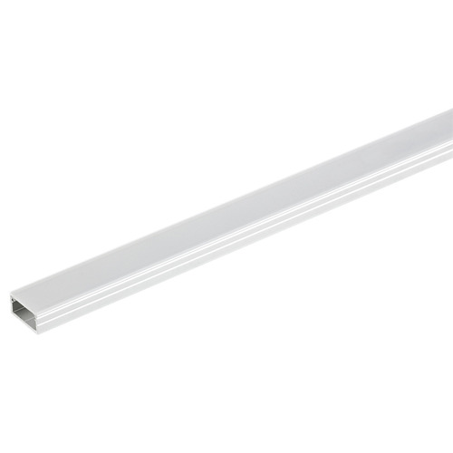 Hafele 833.71.852 Aluminum Profile with Flat Lens for Shallow Surface Mounting